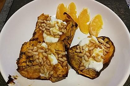 Ofen - Süßkartoffeln mit Ziegenkäse - Quark 28