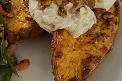 Ofen - Süßkartoffeln mit Ziegenkäse - Quark 18