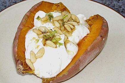 Ofen - Süßkartoffeln mit Ziegenkäse - Quark 4