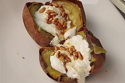 Ofen - Süßkartoffeln mit Ziegenkäse - Quark 13