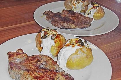 Ofen - Süßkartoffeln mit Ziegenkäse - Quark 21
