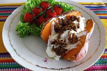 Ofen - Süßkartoffeln mit Ziegenkäse - Quark 2