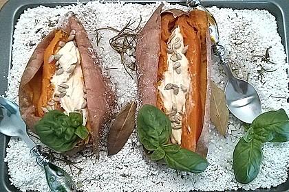 Ofen - Süßkartoffeln mit Ziegenkäse - Quark 25