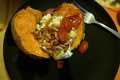 Ofen - Süßkartoffeln mit Ziegenkäse - Quark 17