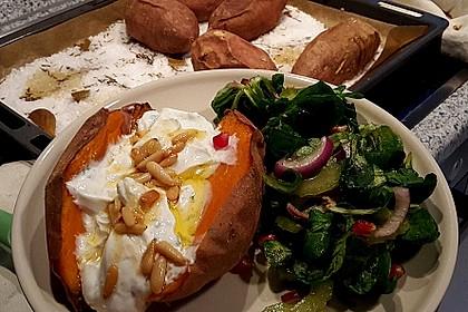 Ofen - Süßkartoffeln mit Ziegenkäse - Quark 12