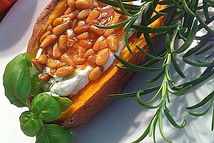Ofen - Süßkartoffeln mit Ziegenkäse - Quark 5