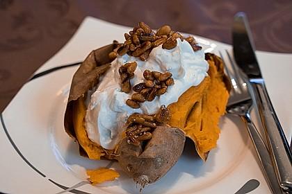Ofen - Süßkartoffeln mit Ziegenkäse - Quark 1