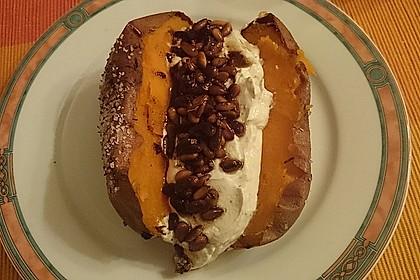 Ofen - Süßkartoffeln mit Ziegenkäse - Quark 11