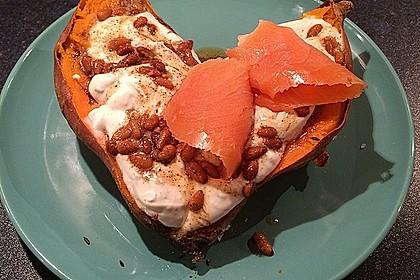 Ofen - Süßkartoffeln mit Ziegenkäse - Quark 10