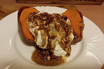 Ofen - Süßkartoffeln mit Ziegenkäse - Quark 7