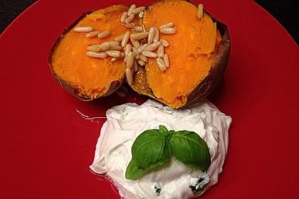 Ofen - Süßkartoffeln mit Ziegenkäse - Quark 16