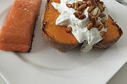 Ofen - Süßkartoffeln mit Ziegenkäse - Quark 8