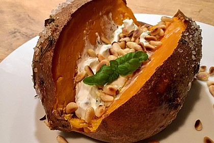 Ofen - Süßkartoffeln mit Ziegenkäse - Quark