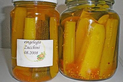 Eingelegte Curry - Zucchini 32