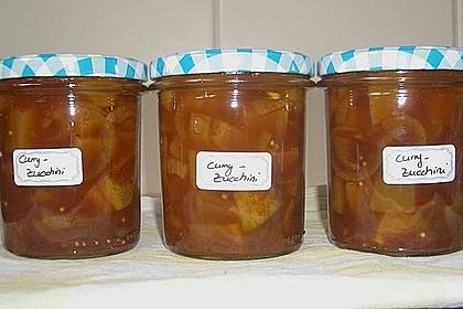 Eingelegte Curry - Zucchini 15