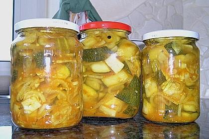 Eingelegte Curry - Zucchini 34