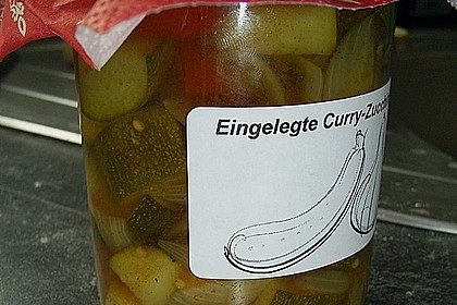 Eingelegte Curry - Zucchini 1