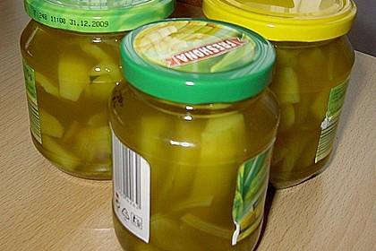 Eingelegte Curry - Zucchini 37