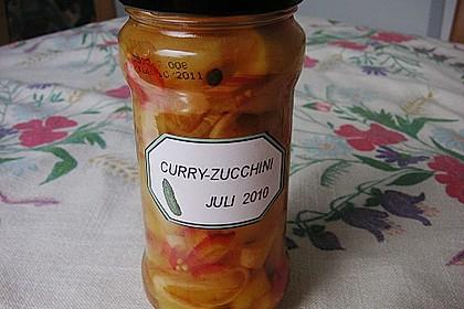 Eingelegte Curry - Zucchini 19