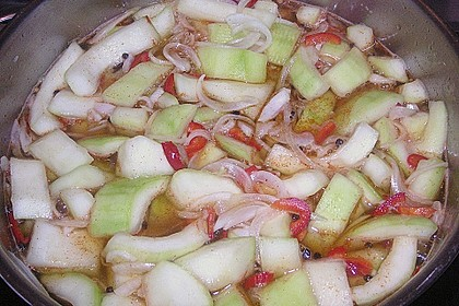 Eingelegte Curry - Zucchini 47