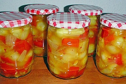 Eingelegte Curry - Zucchini 5