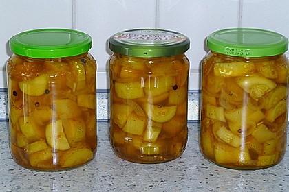 Eingelegte Curry - Zucchini 8