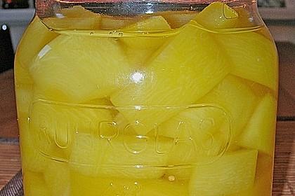 Eingelegte Curry - Zucchini 7