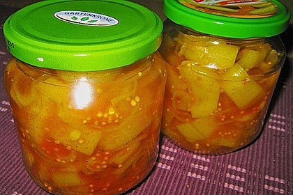 Eingelegte Curry - Zucchini 16