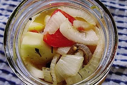 Eingelegte Curry - Zucchini 10