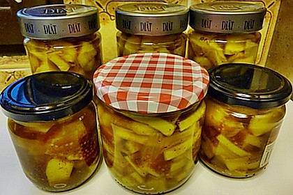 Eingelegte Curry - Zucchini 13