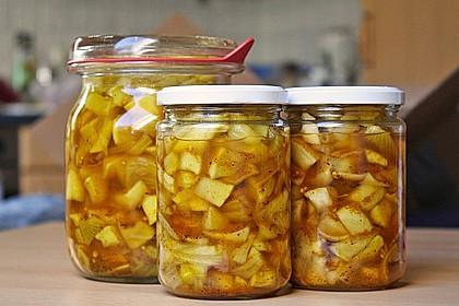 Eingelegte Curry - Zucchini 27