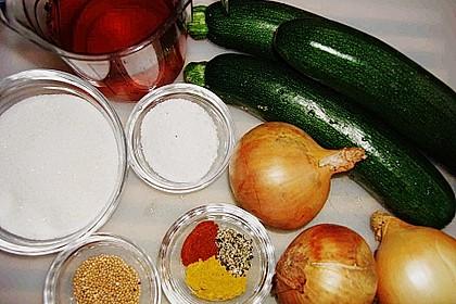 Eingelegte Curry - Zucchini 50