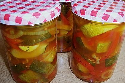 Eingelegte Curry - Zucchini 0