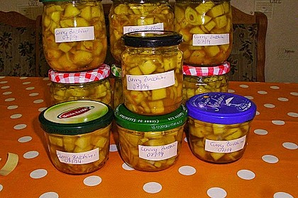 Eingelegte Curry - Zucchini 29