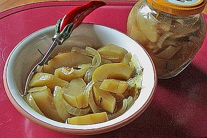 Eingelegte Curry - Zucchini 39