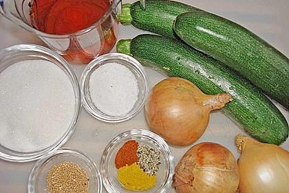 Eingelegte Curry - Zucchini 46