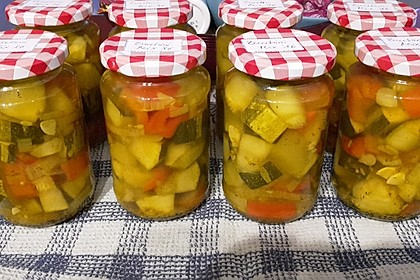 Eingelegte Curry - Zucchini 26