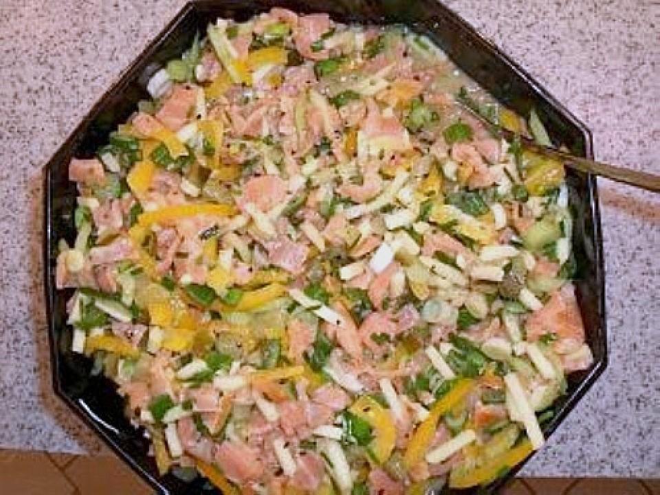 Salat rezept mit lachs