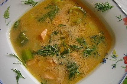 Feine Kartoffelsuppe mit Lachs 4