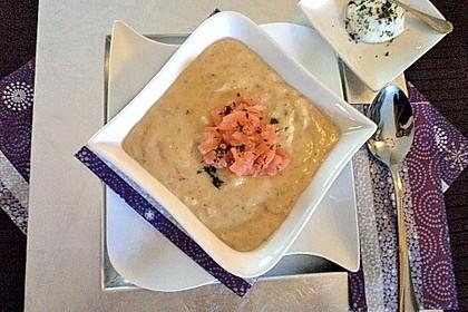 Feine Kartoffelsuppe mit Lachs 12