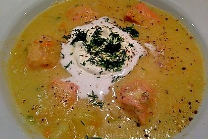 Feine Kartoffelsuppe mit Lachs 9