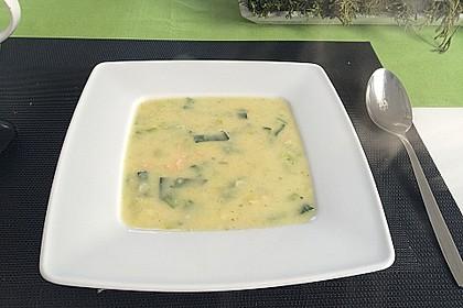 Feine Kartoffelsuppe mit Lachs 11