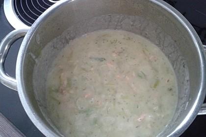 Feine Kartoffelsuppe mit Lachs 18