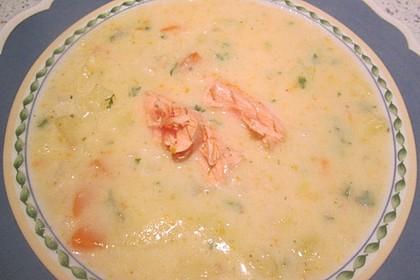 Feine Kartoffelsuppe mit Lachs 8