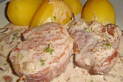 Schweinefilet in Gorgonzolasoße 14