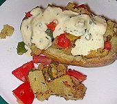 Ofenkartoffel mit Knoblauchmayonnaise (Bild)
