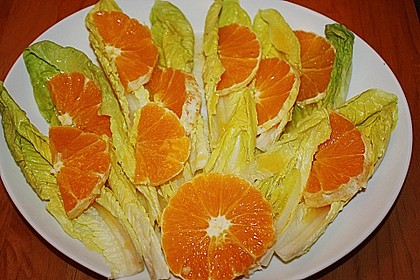 Blattsalat mit Orangen 7
