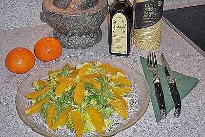Blattsalat mit Orangen 6