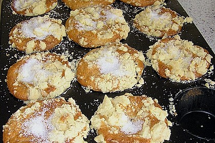 Birnenmuffins mit Butterstreusel