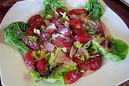 Erdbeeren auf Lachsschinken